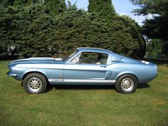 Yet another dream car.... 1967 Shelby Mustang in Brittany Blue.