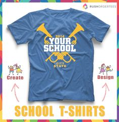 """Get your school spirit on by creating custom t-shirts. Find more idea's in our """"High School T-Shirt Design Idea's Board"""" #schoolspirit"""
