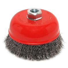 Robtec 4 in. crimped steel wire cup brush is a great tool for fast heavy duty cleaning and polishing. Excellent for deburring and removing paint, rust and scale from steel surfaces. Use with angle grinders is recommended. Power Tool Accessories, Angle Grinder, Wire Brushes, Crimping, Cool House Designs, Removing Paint, Home Improvement, Cleaning, Steel