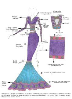 DIY Purple Raw Silk Lehenga Choli