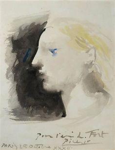 Pablo Picasso - Marie-Thérèse de profil, 1932.