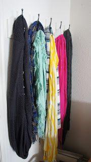 Ikea Organizer $10, like the hooks for a scarf organizer