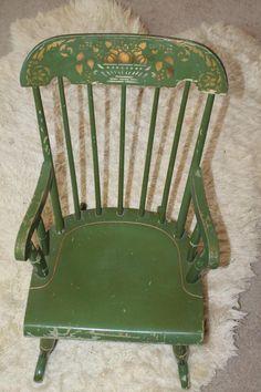 Antique Nichols Amp Stone Windsor Rocking Chair Child S