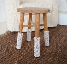 Inspiration: wrap legs of simple stool with jute rope