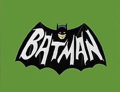 Bat-logo from the opening theme song to the 1966-1968 TV show.