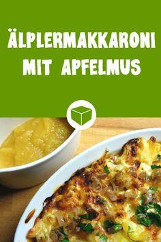 Ungewöhnlich, aber super lecker! Diese Schweizer Makkaroni werden mit Käse überbacken und dazu gibt's Apfelmus. Was komisch klingt, ist aber unser neuer Lieblings Nudelauflauf.