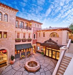 The owners of this Orange County, California mansion loved Italy so much they recreated a plaza courtyard. Complete with storefronts, signs, and incredible details, the courtyard offers them a 'visit' to Italy every day...