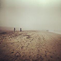 San Francisco Ocean Beach, morning fog