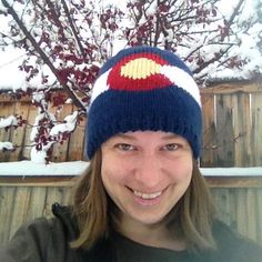 Knit Colorado Flag Hat by KnittingColorado on Etsy Mountain Hat, Knitted Hats, Colorado, Flag, Beanie, Knitting, Trending Outfits, Unique Jewelry, Handmade Gifts