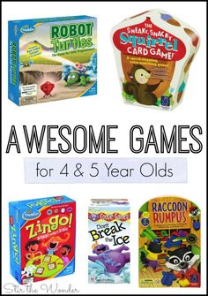 Looking for awesome games for your 4-5 year old? Board games are perfect for the whole family to enjoy that encourage learning & screen free fun!