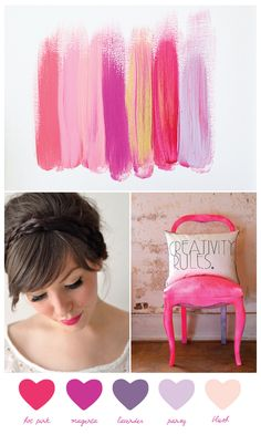 hot pink & blush color palatte
