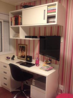 New room decor quarto feminino pequeno 24 Ideas Home Office Design, Home Office Decor, Home Decor, Office Ideas, Study Room Decor, Bedroom Decor, Home Interior, Interior Design, Trendy Home