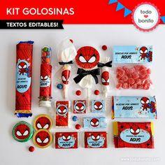 Hombre Araña: kit etiquetas de golosinas                                                                                                                                                                                 Más