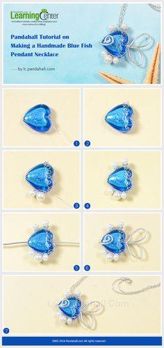 Tutorial on Making a Handmade Blue Fish Pendant Necklace from LC.Pandahall.com
