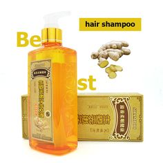 2016 nuovo Zenzero Professionale Shampoo Per Capelli 300 ml, ricrescita dei capelli dense veloce, più spessa, aussie shampoo anti perdita di capelli prodotto