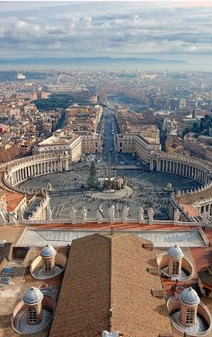 View from the top of St Peters Basilica, Vatican City , from Iryna
