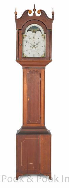 Pennsylvania Federal Cherry Tall Case Clock Circa 1810 The Eight Day