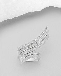 925 sterling silver ring pave set with cz