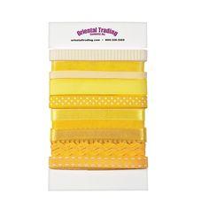 Yellow Ribbon Assortment - OrientalTrading.com