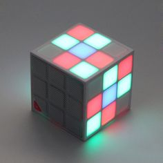 2016 New Year Christmas Gift Mini Magic Cube Colorful Wireless Portable Bluetooth Speaker LED Flash Light with TF Card Handsfree-in Speakers from Consumer Electronics on Aliexpress.com | Alibaba Group
