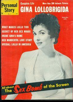 PERSONAL STORY #1 Magazine June 1955 special all Gina Lollobrigida photo issue | eBay