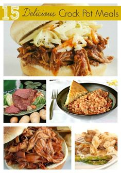 15 Delicious Crock Pot Meals ~ Here we go with another round of wonderful crock pot meals. Each of these look so good – I am looking forward to working my way through all of them again.