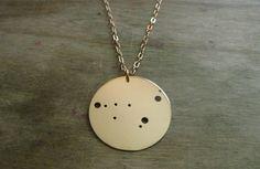 Capricorn Constellation Pendant Necklace.
