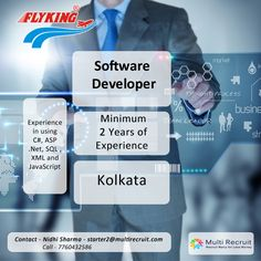 Flyking Courier Services operating Pan India is looking for a Software developer who has great problem solving and analytical skills and can juggle around with all kinds of softwares with minimum qualification of Bachelor's in Computer Science or Information Technology or relevant field. If you are interested, please contact:  Nidhi Sharma- starter2@multirecruit.com/7685947450