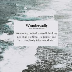 Wonderwall - finally understand the meaning of the oasis song