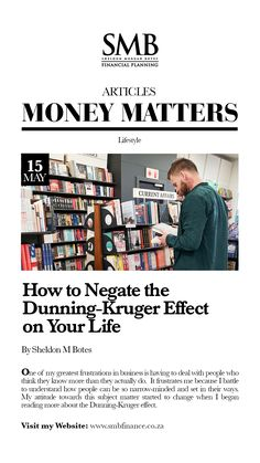 How to negate the Dunning-Kruger effect on your life High Emotional Intelligence, Common Phrases, Beginning Reading, Intelligent People, Investment Companies, My Attitude, The More You Know, Money Matters, Smart People
