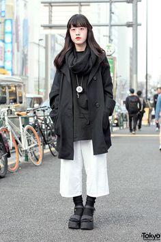Monochrome Harajuku Style w/ Culottes