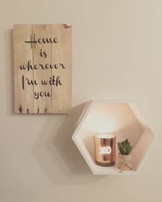 'Home is wherever I'm with you' pallet sign by The Vintage Pallet. Email thevintagepallet@mail.com for orders. Follow on Facebook and Instagram: @thevintagepallet