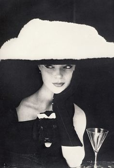 Balenciaga hat photographed by Henry Clarke, 1953.