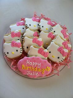 Perfect Hello Kitty sugar cookies