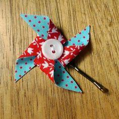 Little Jenny Wren: Pinwheel bobby pin tutorial