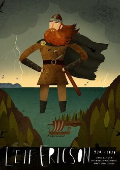 Leif Ericson Images Only | Leif Ericson' by South African illustrator Patrick Latimer. via the ...