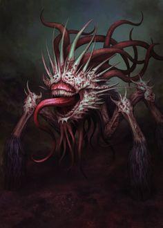 ArtStation - Spider, Ujin Shamoney Monster Concept Art, Fantasy Monster, Monster Art, Creepy Monster, Dark Creatures, Weird Creatures, Mythical Creatures, Cool Monsters, Horror Monsters