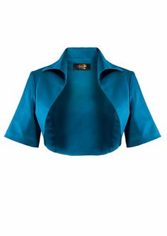 1950s Bolero Jacket - Teal - Fashion 1930s, 1940s & 1950s style - vintage reproduction