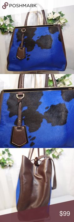"""Designer Faux leather ??? hide bag read details Size 14-11-5- 6"""" & 13"""" handle & strap drop..Pre loved lightly used. very clean in and out. small nick/scrape to back side pic  stain to left side pic 4 & 5 . Generic Unbranded.. PRICE IS REFLECTED ACCORDINGLY. Please dont ask s,.This bag features good quality material and workmanship, returns accepted, no questions asked. Bags Shoulder Bags"""