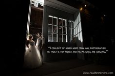 Northern Michigan Destination Wedding Photography Studio Paul Retherford kind words from Clients, http://www.paulretherford.com