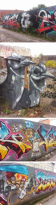 Street Art, Northcote Street Lane, Cardiff - Matthew Price - Google+