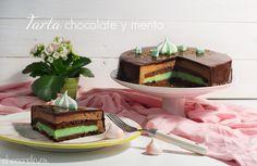 Tarta de Chocolate y menta; Chocolate mousse and peppermint cake Menta Chocolate, Peppermint Cake, Mousse, Desserts, Pastel, Food, Tarts, Vegan, Sweet Treats