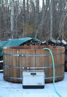 hot tub powered by wood stove