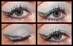 Rainbow Dash From My Little Pony Inspired Eye Makeup