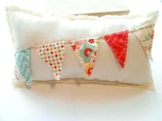 Bunting Pillow Party Banner Pillow Novelty Pillow by Itsewbella, $16.00