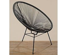 Kontrast-reich: Acapulco-Chair EDDY, schwarz