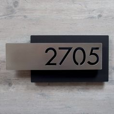 Custom Modern Layered Floating House Numbers Horizontal Offset in StainlessThe Modern and Sleek house number sign made from stainless steel. House Address, Address Plaque, House Number Plates, Number Plate Design, Office Door Signs, Door Signage, Door Numbers, Door Number Sign, Floating House