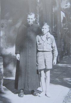 Fr. Karol Józef Wojtyła in cassock.