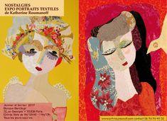 Expo Nostalgies portraits textiles de Katherine Roumanoff à Paris. | Le blog de Katherine Roumanoff
