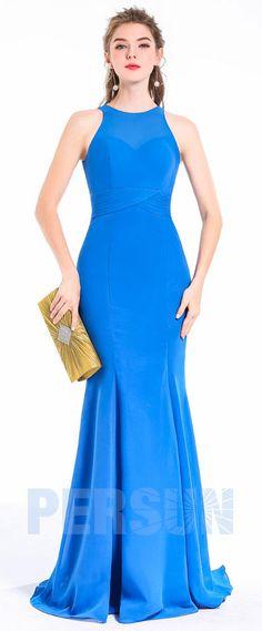 Robe de soirée fourreau sexy bleu Cute Hairstyles, One Shoulder, Sexy, Formal Dresses, Bleu Royal, Graphic, Cocktail, Logo, Fashion